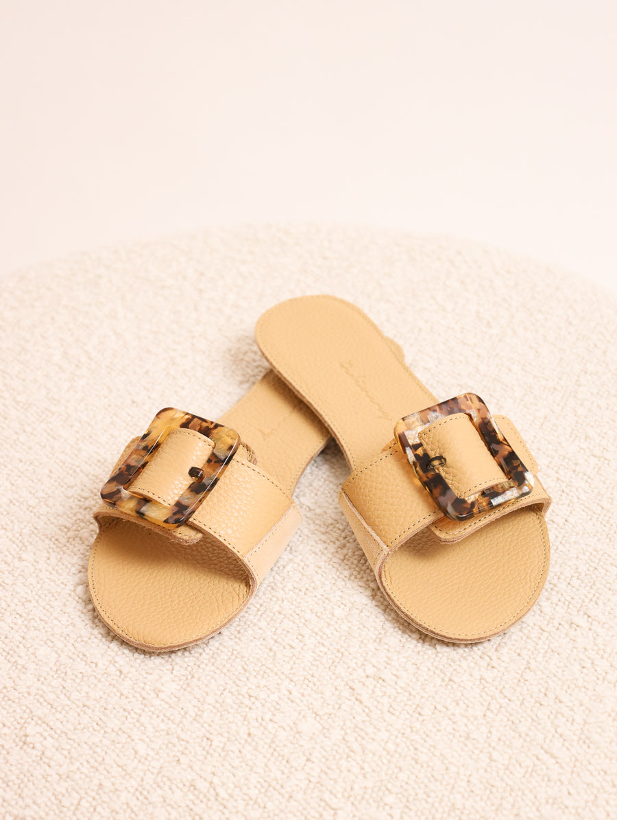 Resin Buckle Sandals