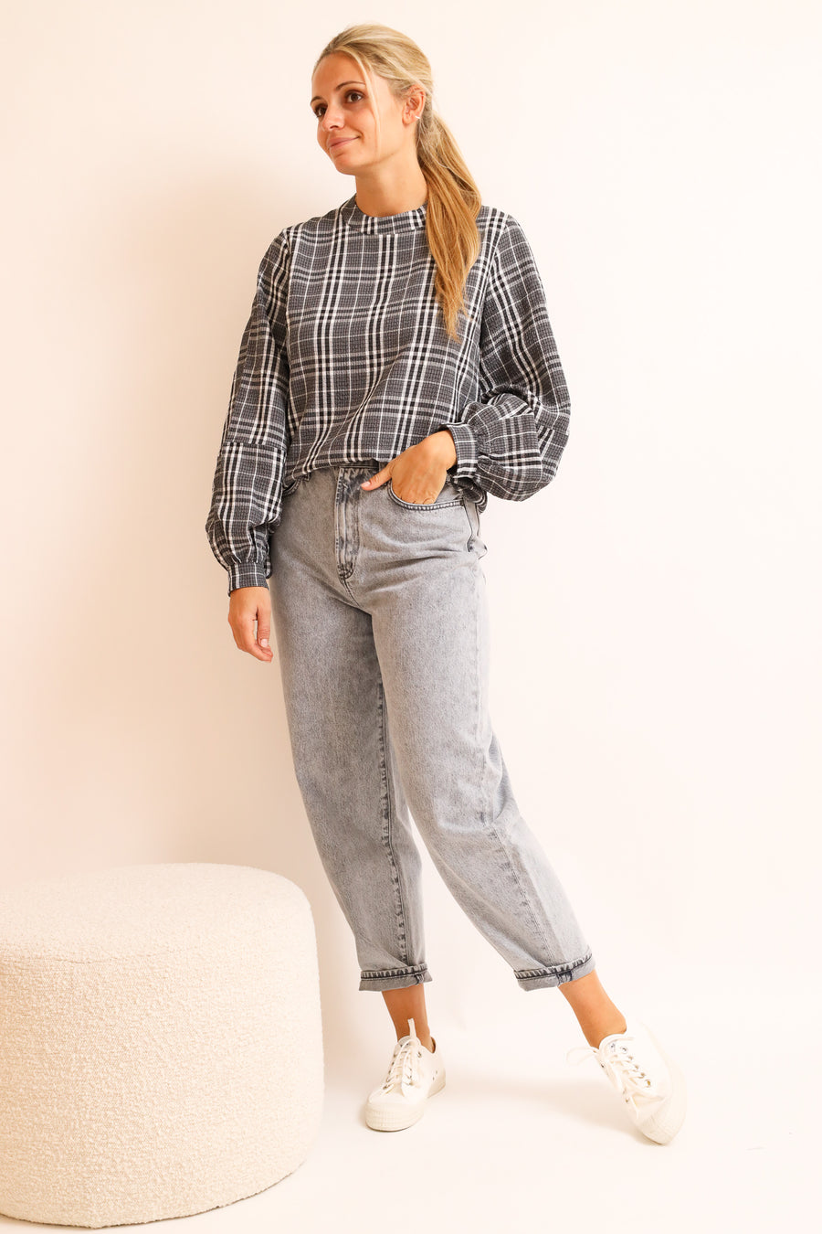 Checked Blouse