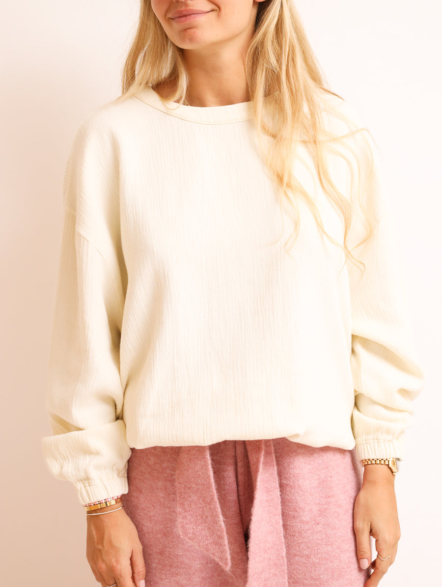 Oversized Cotton-Blend Top