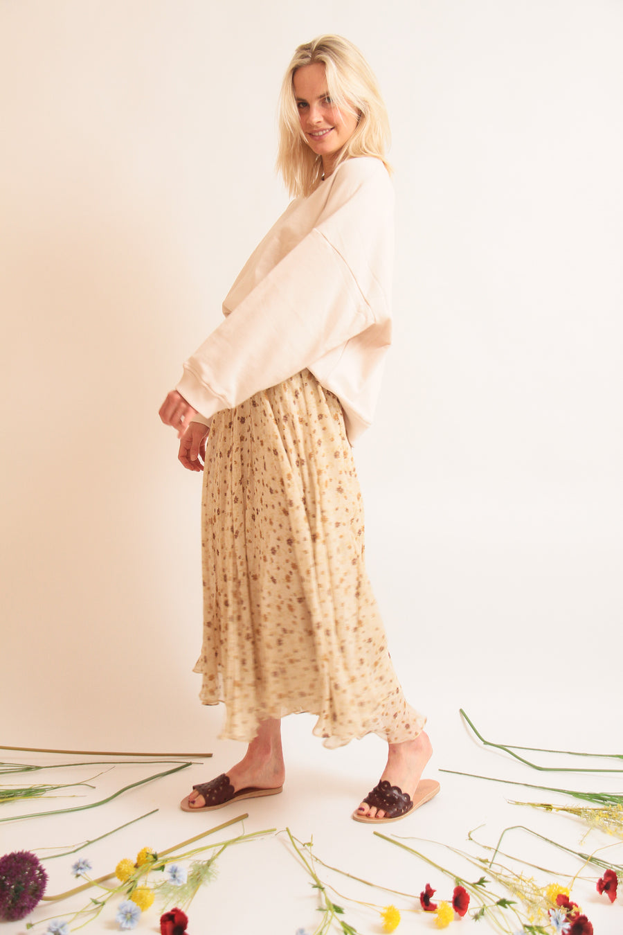 Breezy Flower Skirt