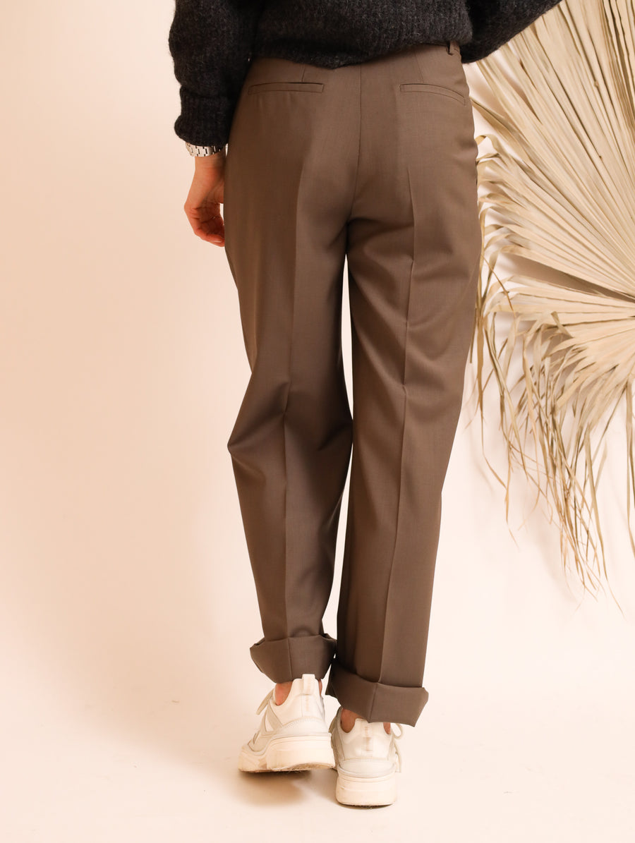 Tailored Wide-Leg Pants