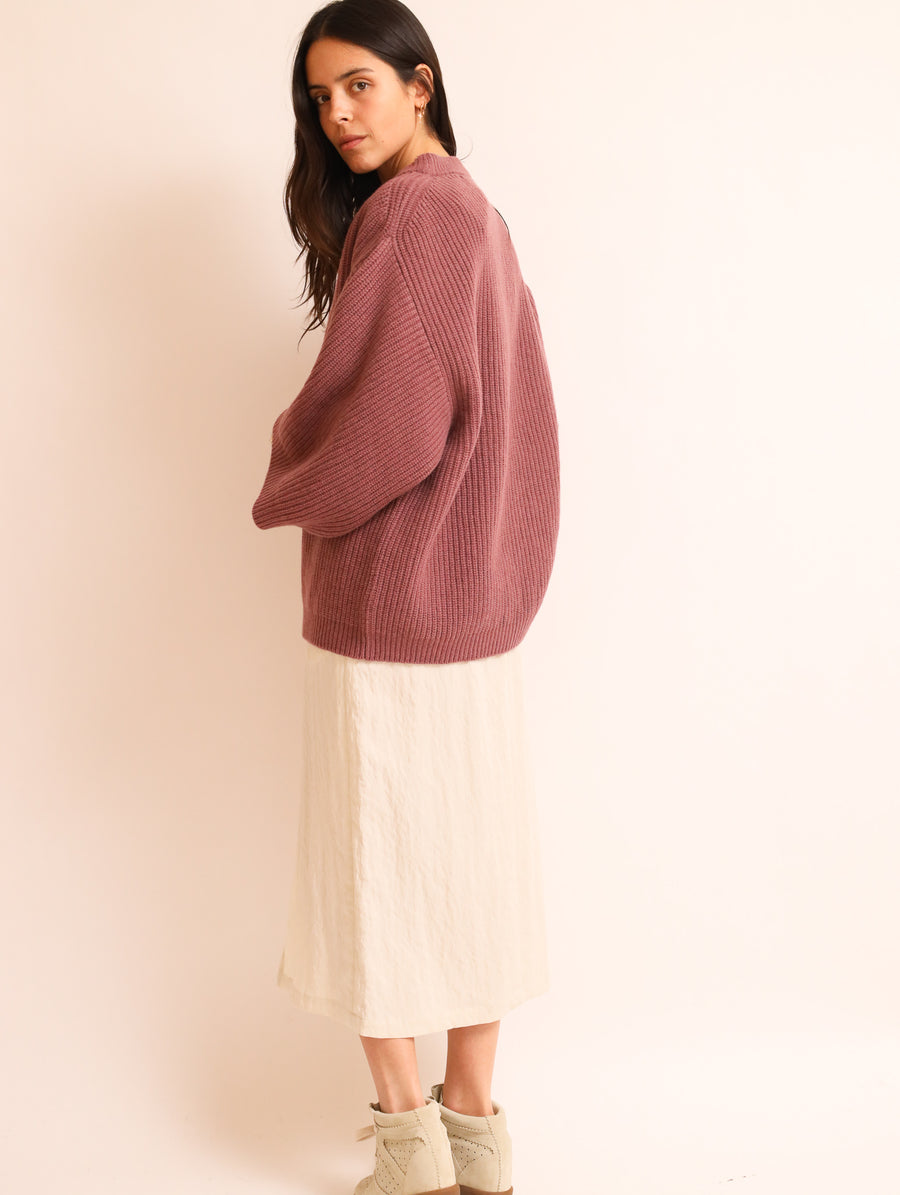 Cashmere-Blend Maxi Sleeved Jumper