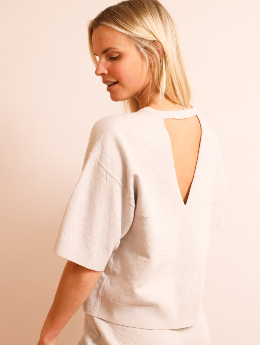 Organic Cotton Open Back Top