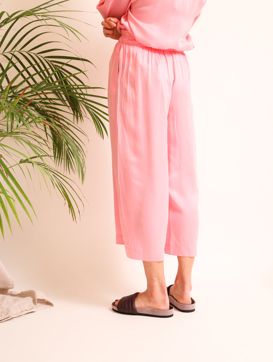 Cropped Cupro Pants