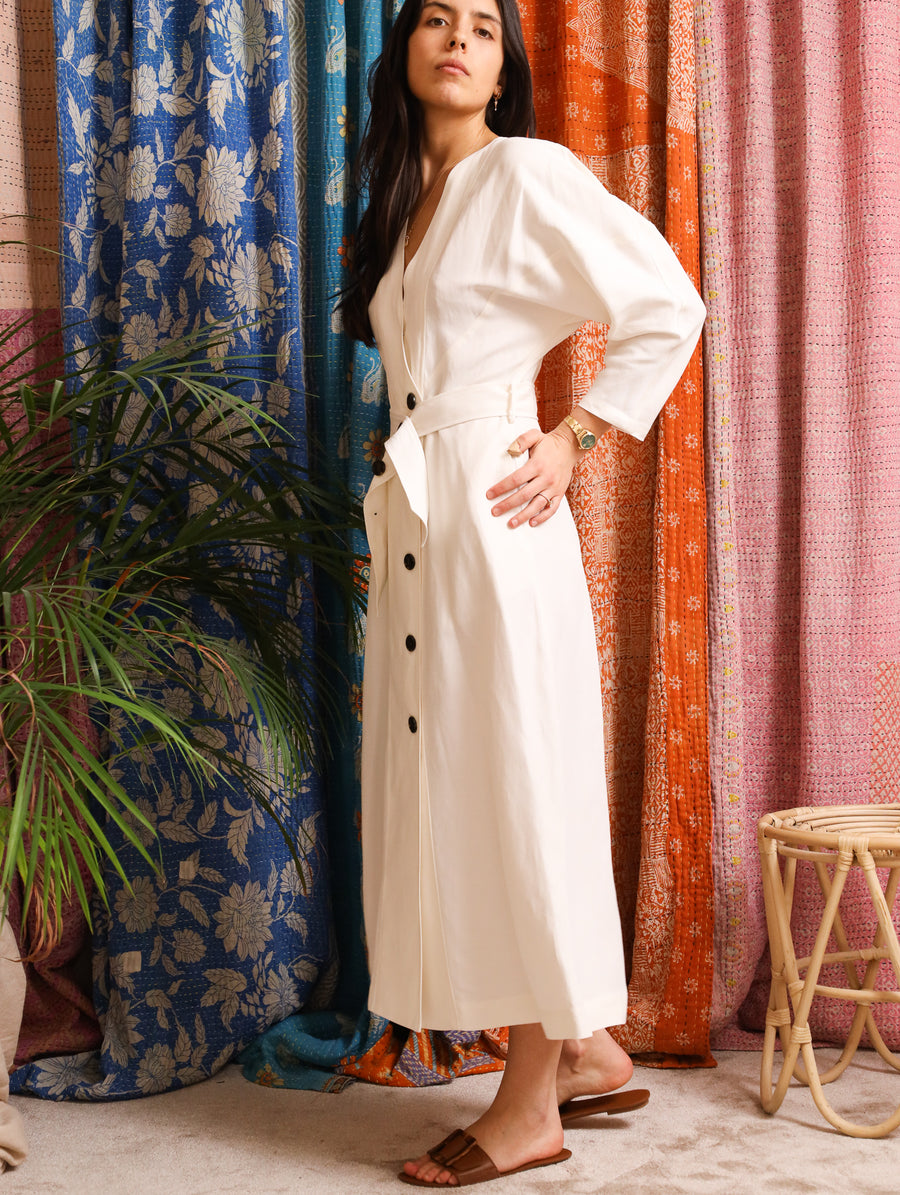 Elegant Belted Maxi Dress