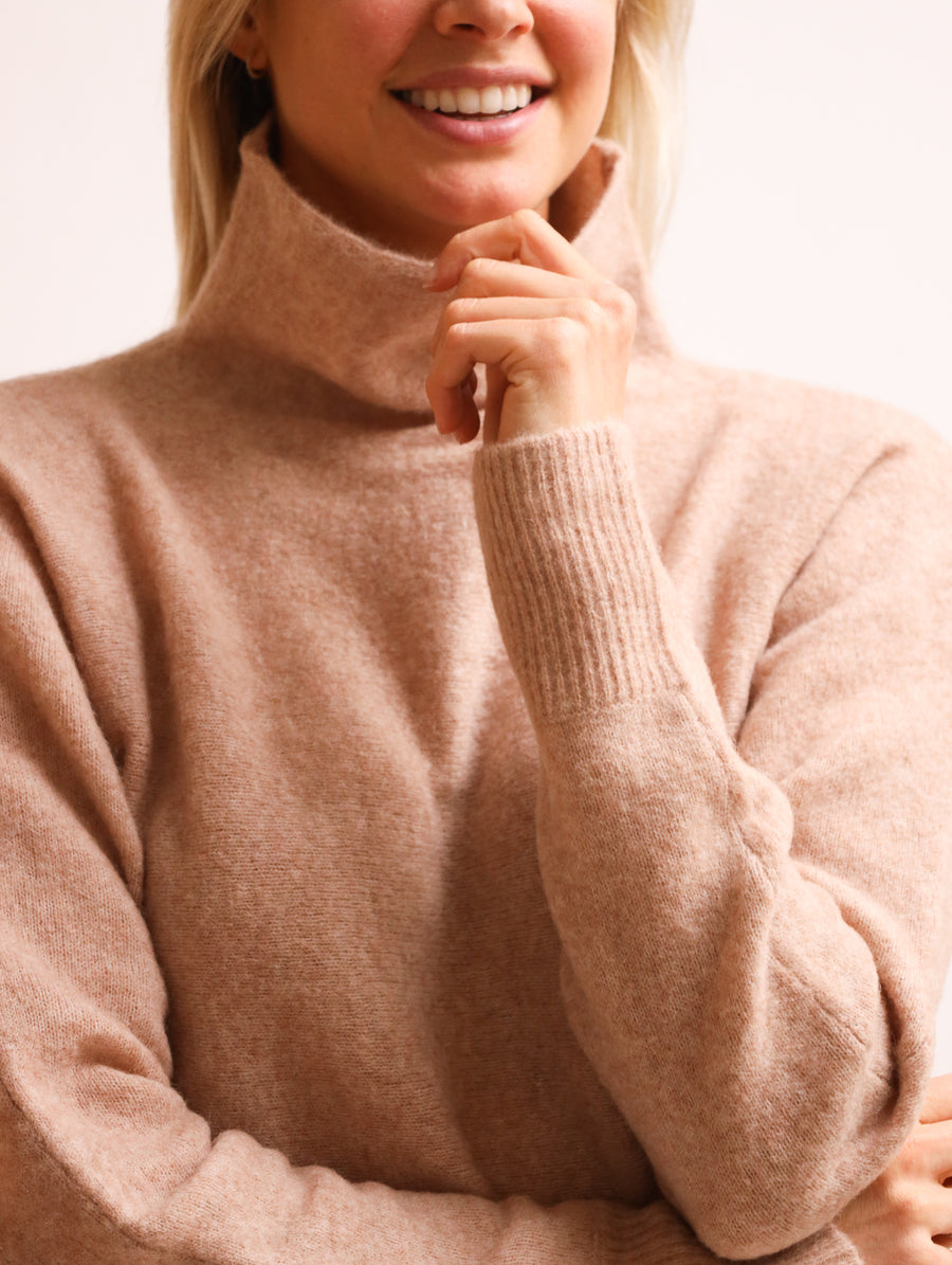 Wool-Blend Turtleneck Jumper