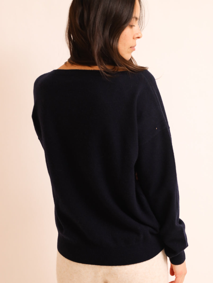 Cashmere Boat Neck Knit Jumper