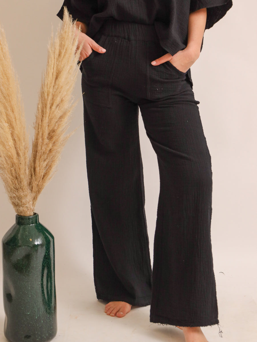 Bio-Cotton Flared Leg Pants