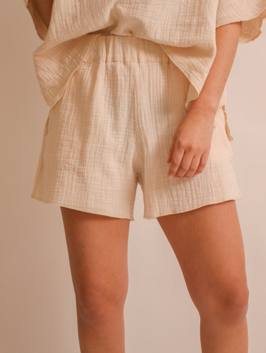 Loose-Fit Cotton Shorts