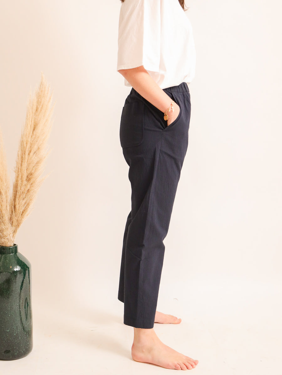 Striped Cotton-Blend Pants