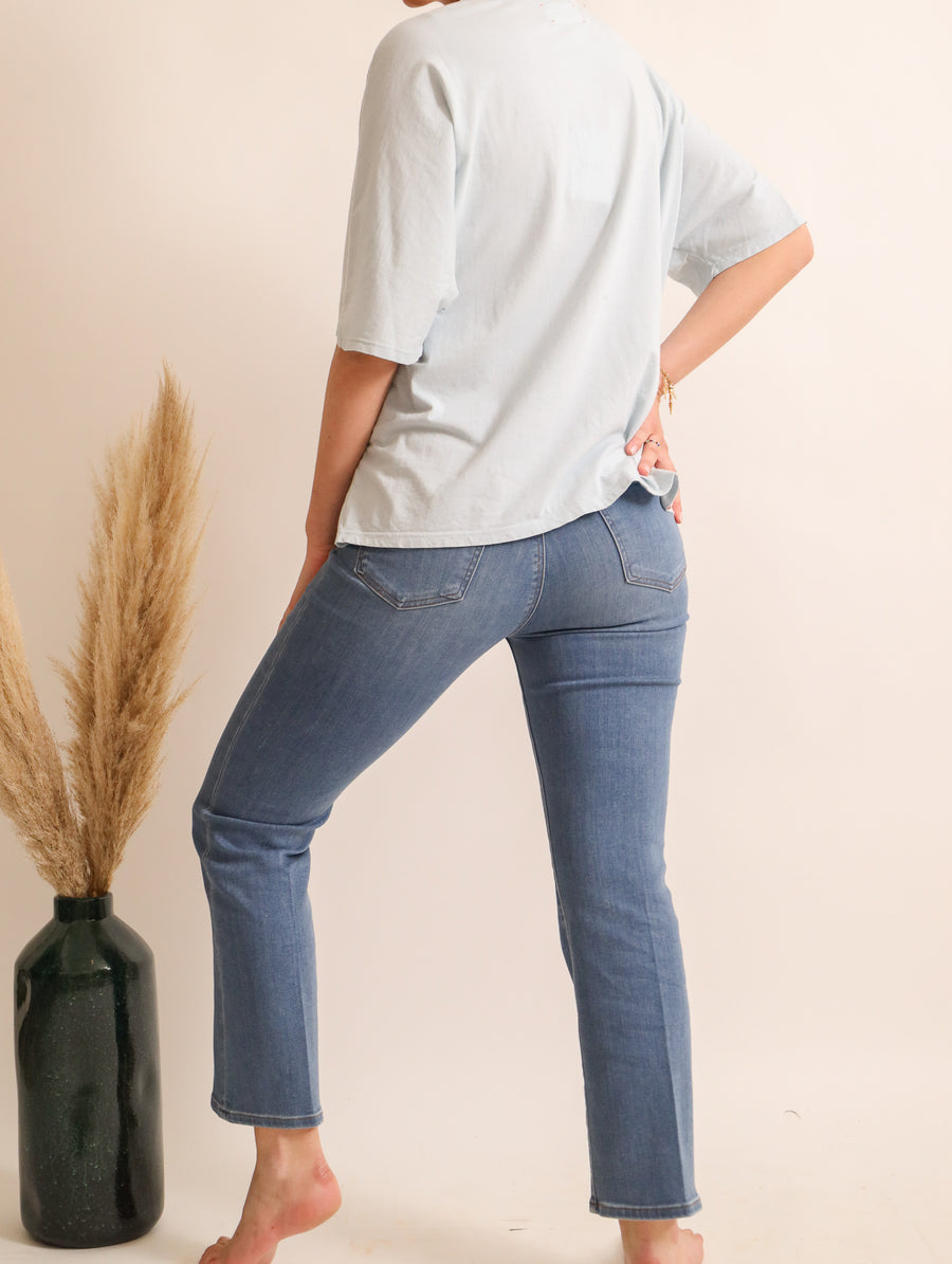 Straight Cut Cotton Jeans