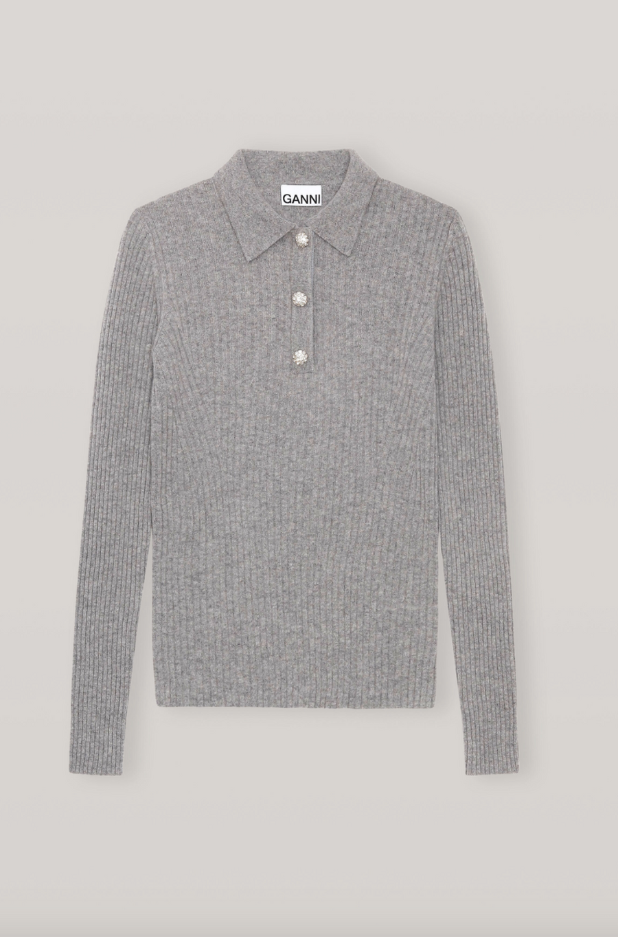 Wool-Blend V-Neck Jumper