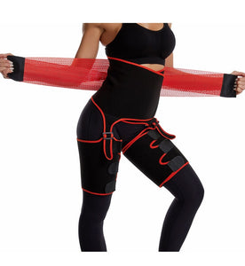 3 in 1 Workout - Waist & Thigh Trimmer - Legs Shaper -