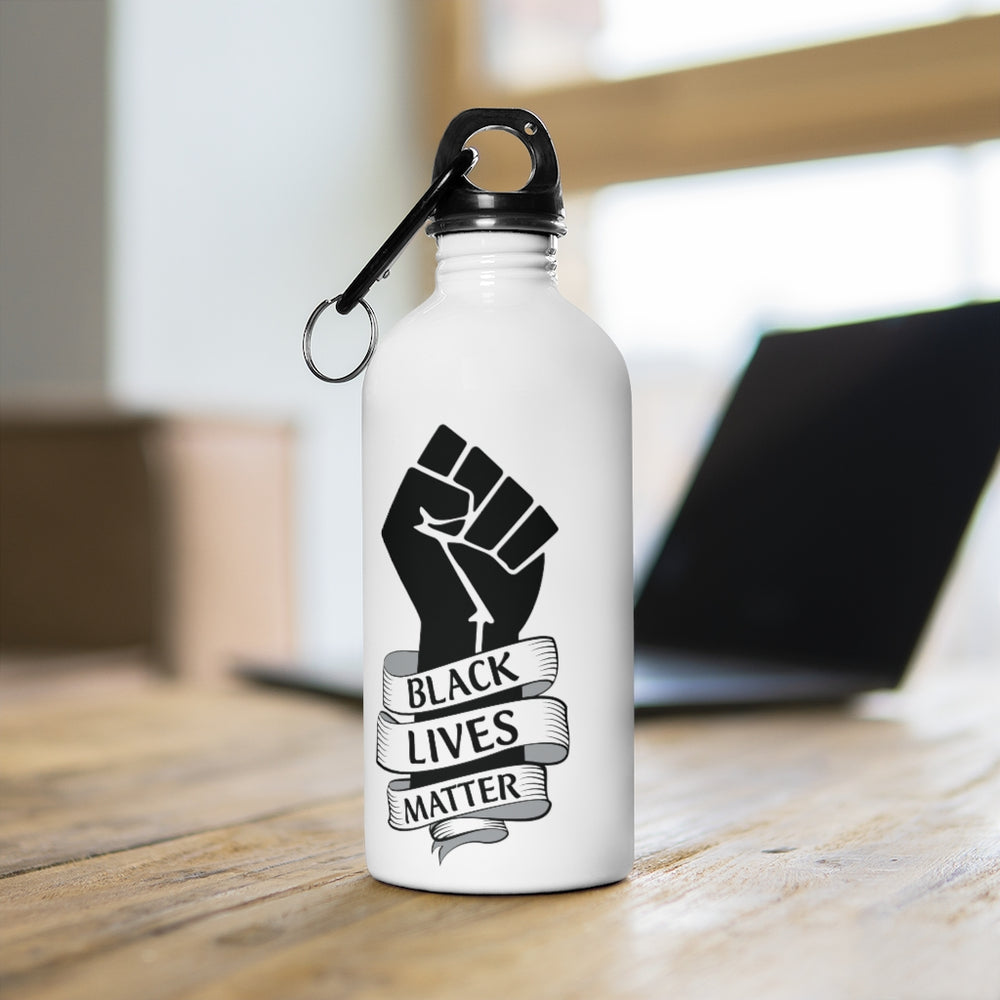 Black Lives Matter Stainless Steel Water Bottle