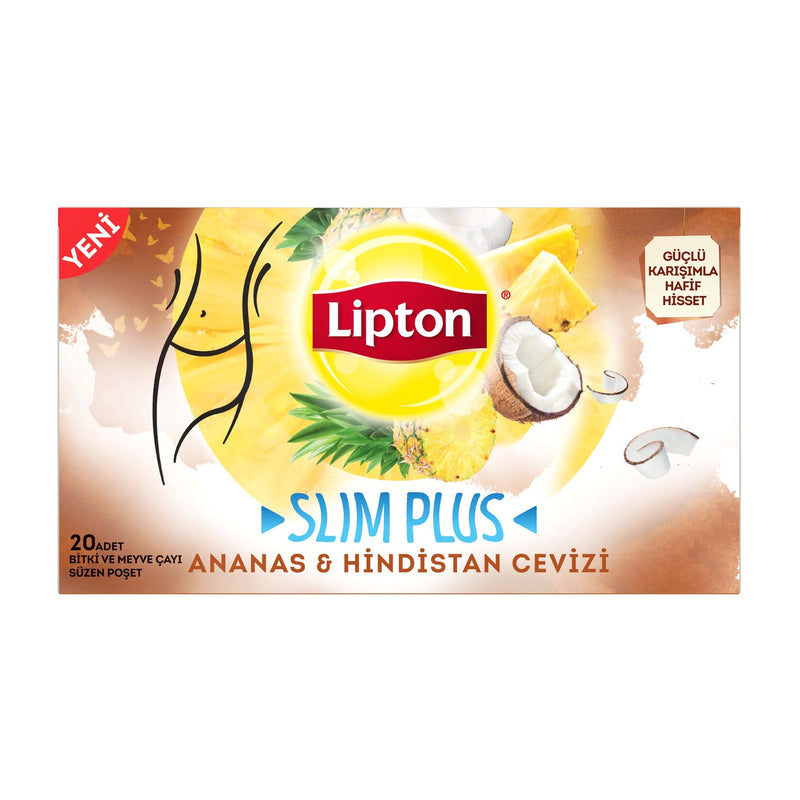 Lipton Slim Plus Pineapple Coconut Tea (Ananas Hindistan Cevizi 20'li) 34g