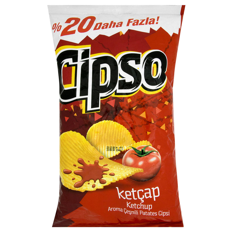 Cipso Ketchup Potato Chips Party Size (Tırtıklı Ketçap Cips Partı Boy) 150g