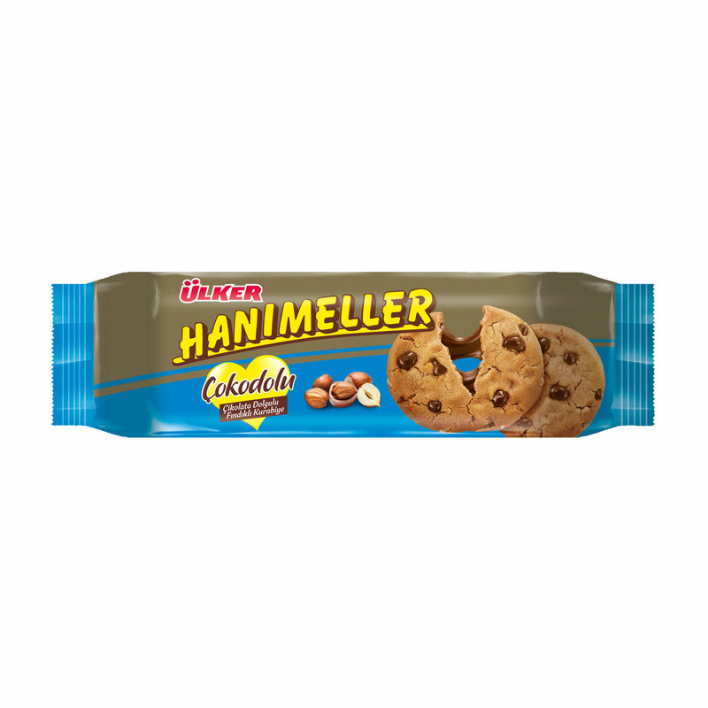 Ülker Hanımeller Cookie with Chocolate Chips and Hazelnuts (Fındıklı Kurabiye) 150g