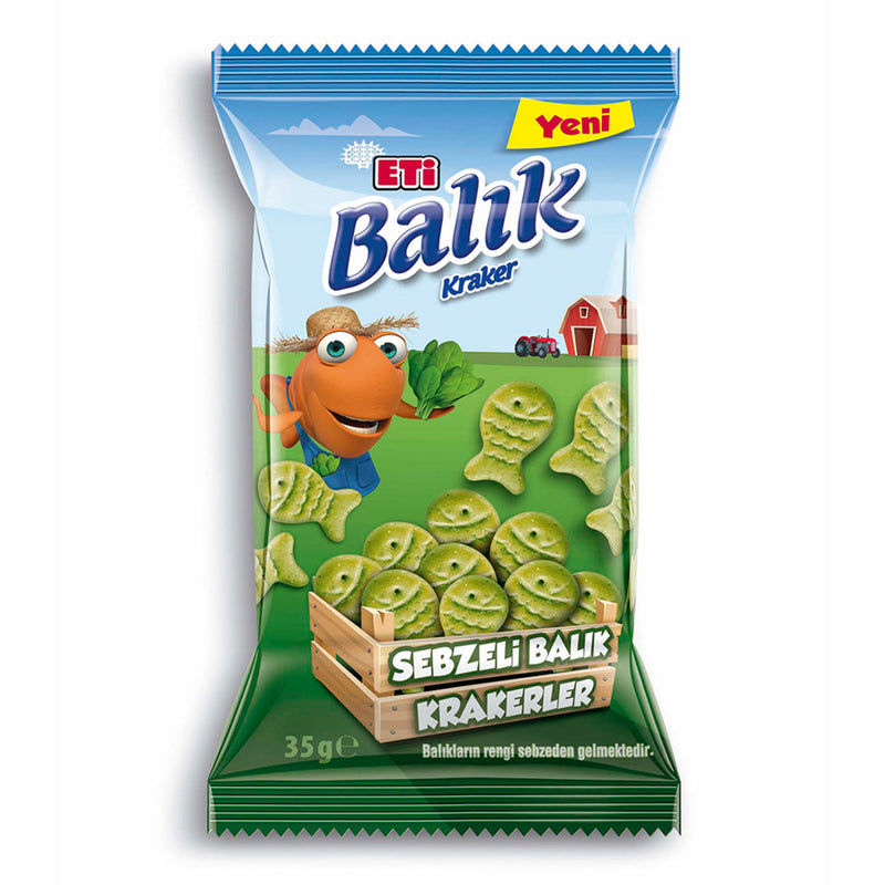Eti Vegetable Fish Crackers (Sebzeli Balık Kraker) 35g
