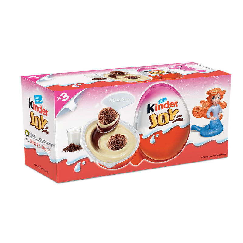 Kınder Joy Surprise Egg Pack of 3 (Kızlara Özel) 60g