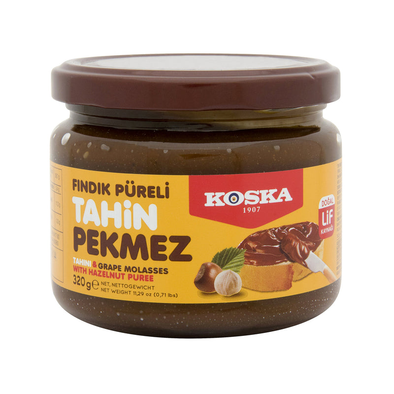Koska Tahini & Grape Molasses Spread with Hazelnut Puree (Fındık Püreli Tahin Pekmez Karışımı) 320g