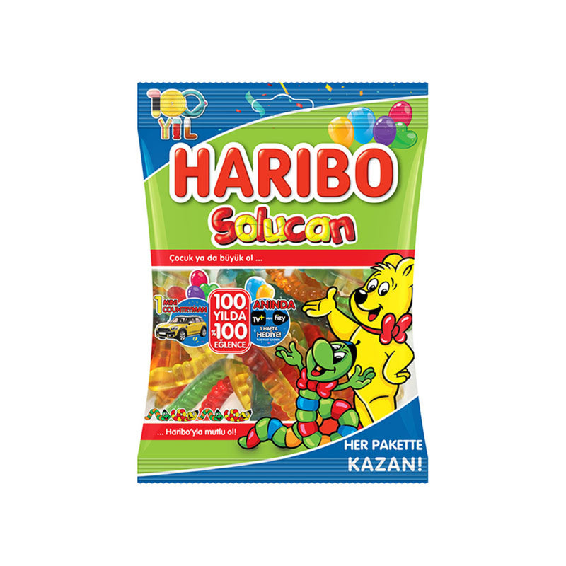Haribo Worm Gummy Candy (Solucan) 80g