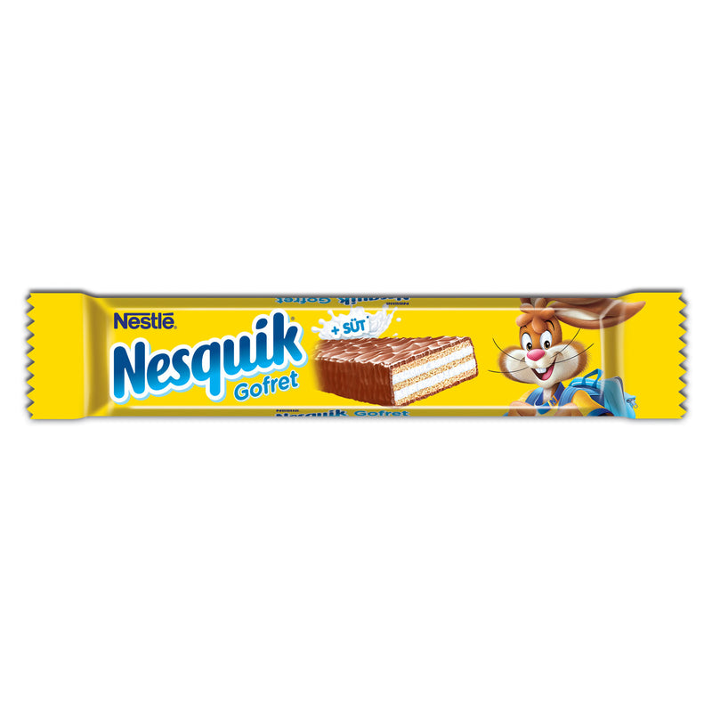 Nestle Nesquik Milk Chocolate Wafer (Gofret Sütlü Çikolata) 26g
