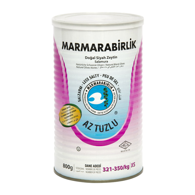 Marmarabirlik Reduced-Salt Black Olives XS (Hususi Az Tuzlu Zeytin) 800g