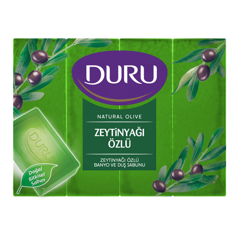 Duru Natural Olive Oil Bath & Shower Soap (Zeytinyağlı) 4x150g