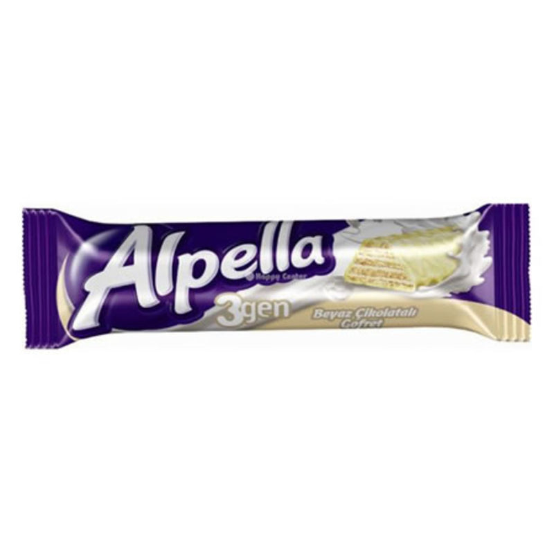 Alpella 3Gen White Chocolate Wafer (Gofret Beyaz) 28g