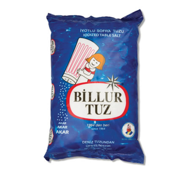 Billur Iodized Table Salt (Tuz Rafine İyotlu Sofra Tuzu) 750g