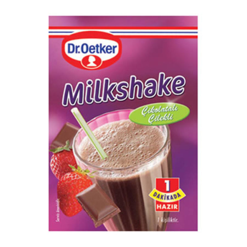 Dr. Oetker Chocolate-Strawberry Milkshake Mix (Çikolatalı Çilekli) 30g