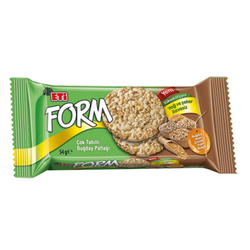 Eti Form Puffed Wheat Crackers, No Added Fat or Sugar (Tahıl Patlağı) 54g
