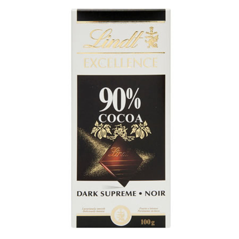 Lindt Excellence 90% Dark Supreme Chocolate 100g