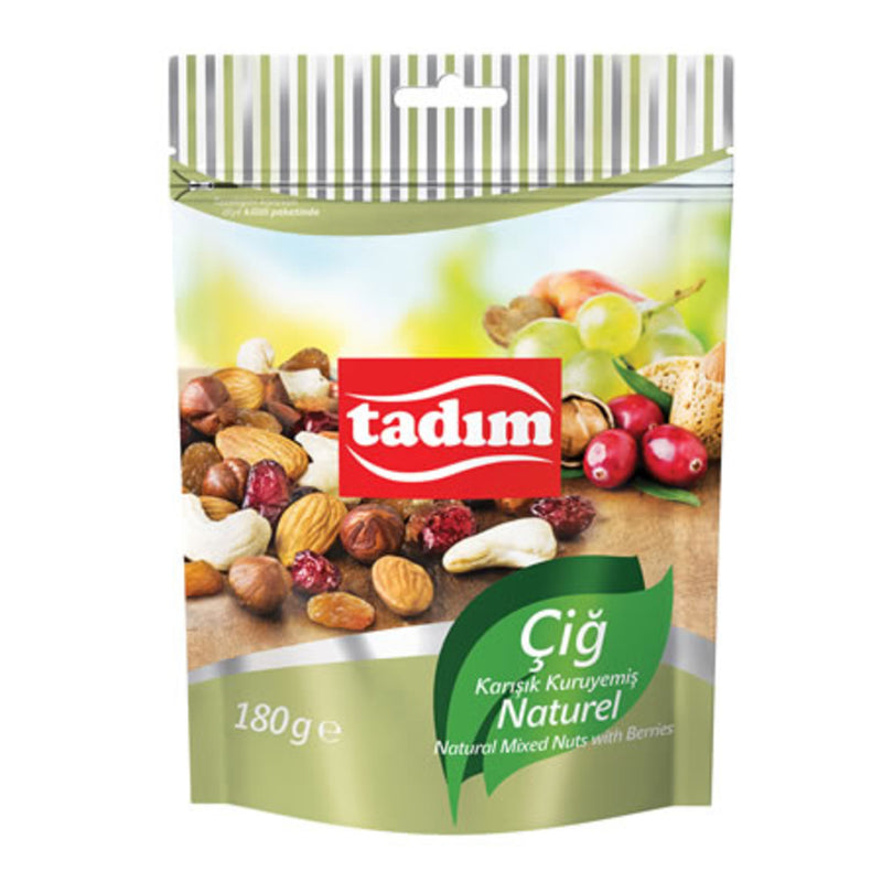 Tadım Natural Mixed Nuts with Berries 180g