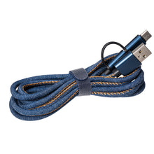 Lade das Bild in den Galerie-Viewer, 3-in-1 Ladekabel Denim