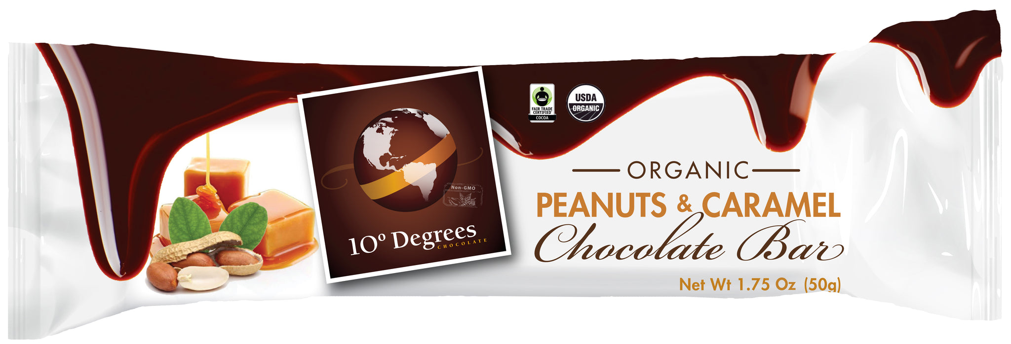 Organic Dark Chocolate Peanuts & Caramel Bar