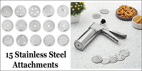 15 Stainless Steel Attachments