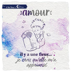 "3 tampons transparents ""Amour"" - Le Petit Prince Tampons LoveInTheMoon"