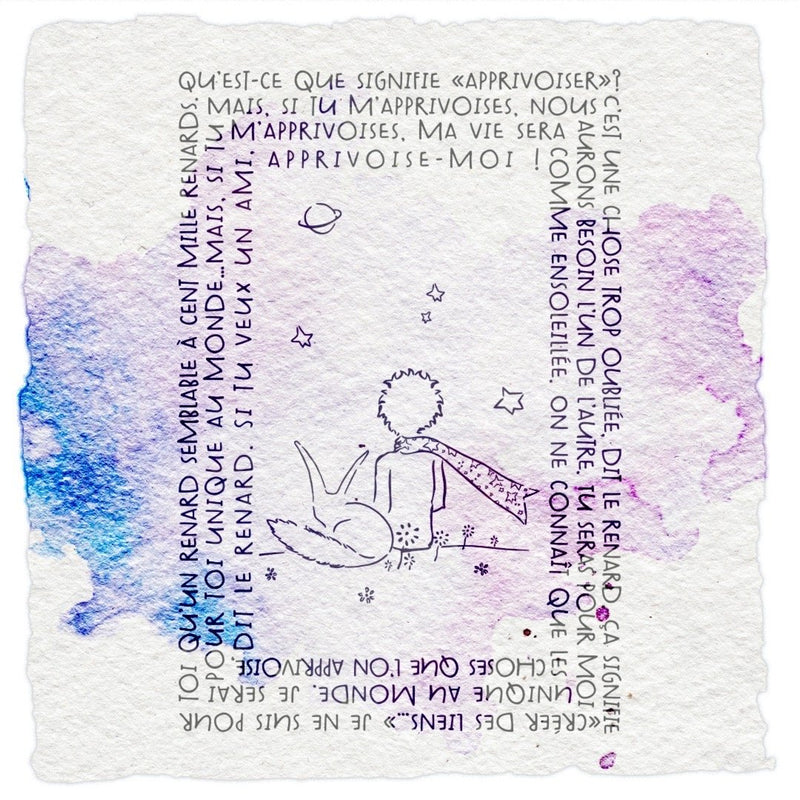 Tampon clear apprivoise-moi du Petit Prince - 6,5x9,5cm Tampons LoveInTheMoon