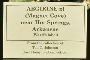Aegerine from Magnet Cove, Arkansas, USA