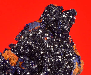 Azurite from Bou Beker, Touissit, Morocco