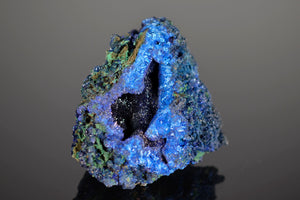 Azurite with Malachite from Liufengshan Mine, Chizhou, Guichi District, Anhui Province, China
