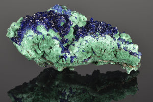 Azurite with Malachite from Liufengshan Mine, Chizhou, Guichi District, Anhui Province, Chile