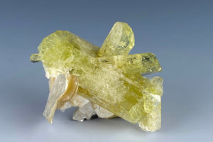 Brazilianite with Muscovite from Telirio Mine, Linopolis, Minas Gerais, Brazil