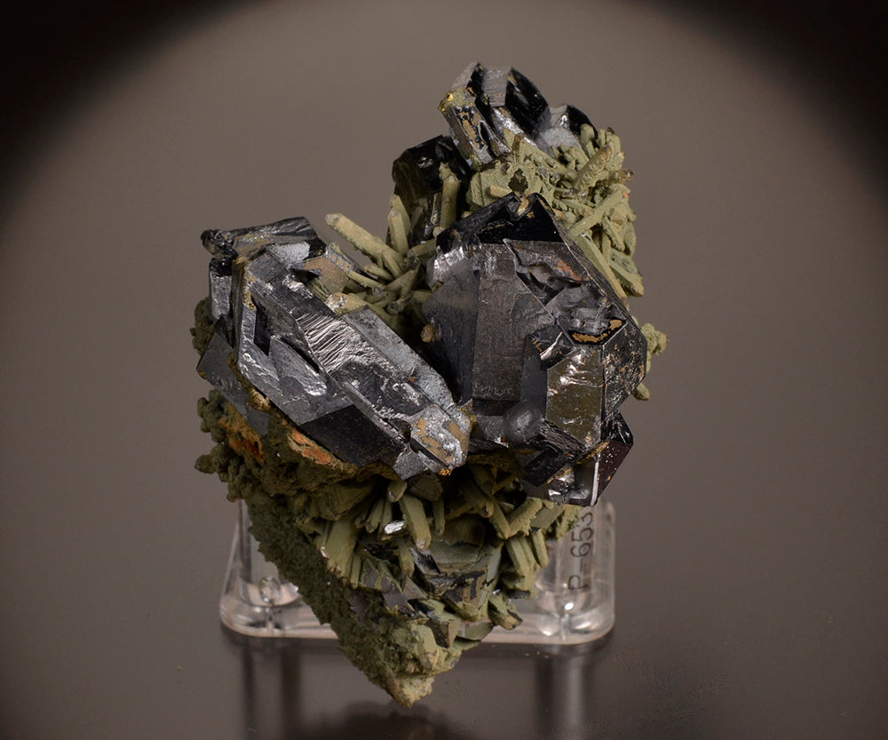 Galena from Nikolaevskiy Mine, Dal'negorsk, Far-Eastern Region, Russia