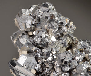 Galena (spinel twin crystals) from Big Bear Orebody, Fletcher Mine, Reynolds Co., Missouri, USA