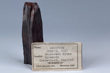 "Load image into Gallery viewer, Hematite var. ""Pencil Ore""  from Beckermet Mine, Egremont, Cumberland, England"