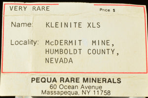 Kleinite from Mcdermit Mine, Humbolt Co., Nevada, USA