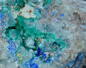Linarite from Collins Vein, Mammoth Mine, Tiger, Pinal County, Arizona