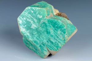 Feldspar variety Amazonite from Lake George, Park Co., Colorado, USA